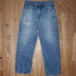 Ecko Unlimited Distress Baggy Fit Jeans
